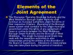 elements of the joint agreement31