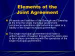 elements of the joint agreement32