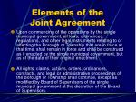 elements of the joint agreement34
