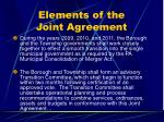 elements of the joint agreement35