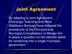 joint agreement
