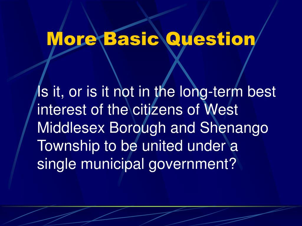 More Basic Question