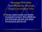 shenango township west middlesex borough single government vote8