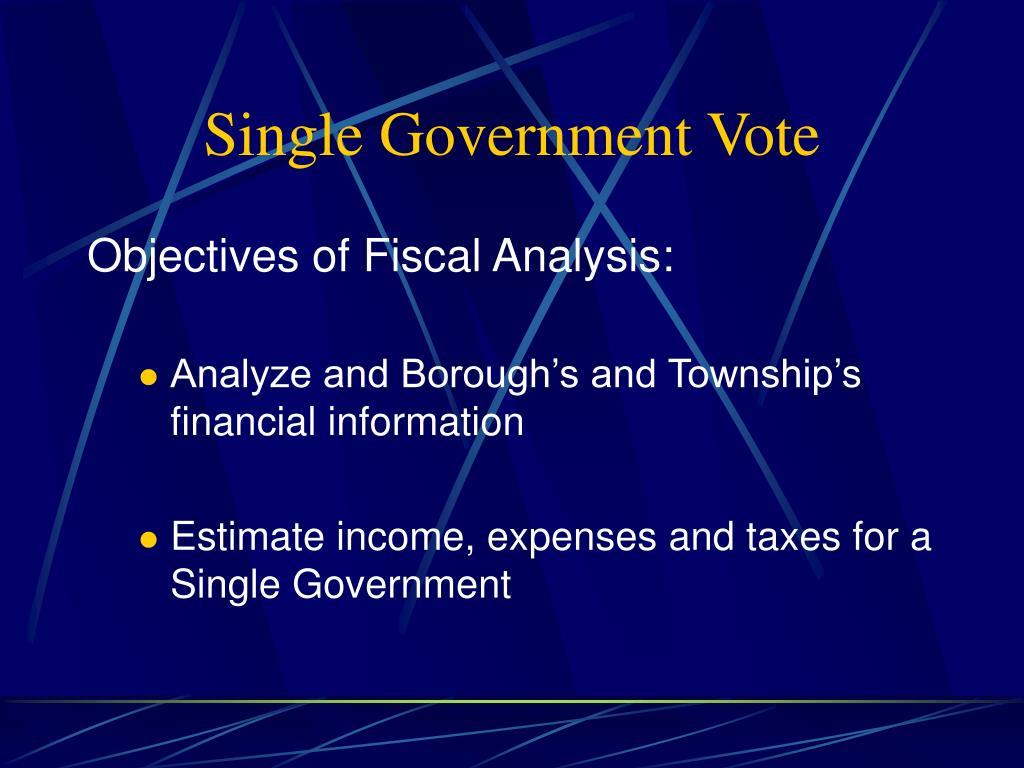 Single Government Vote