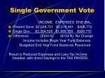 single government vote38