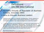 definitions aacsb international
