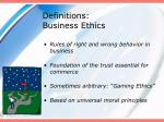 definitions business ethics