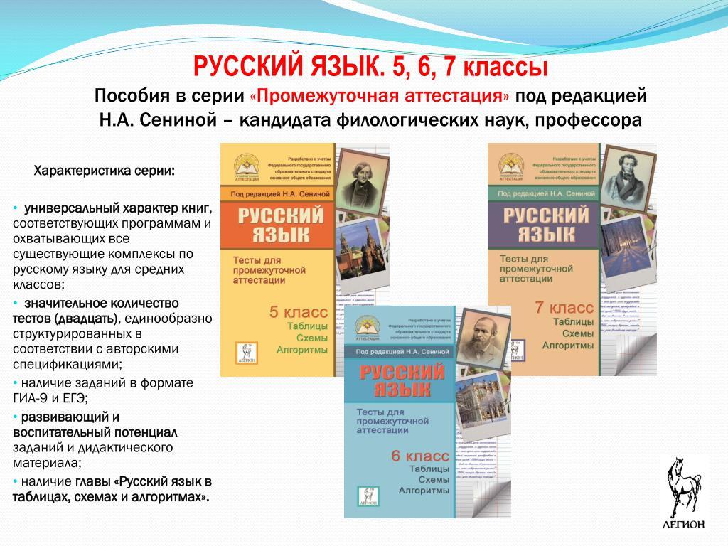 РУССКИЙ ЯЗЫК. 5, 6, 7 классы