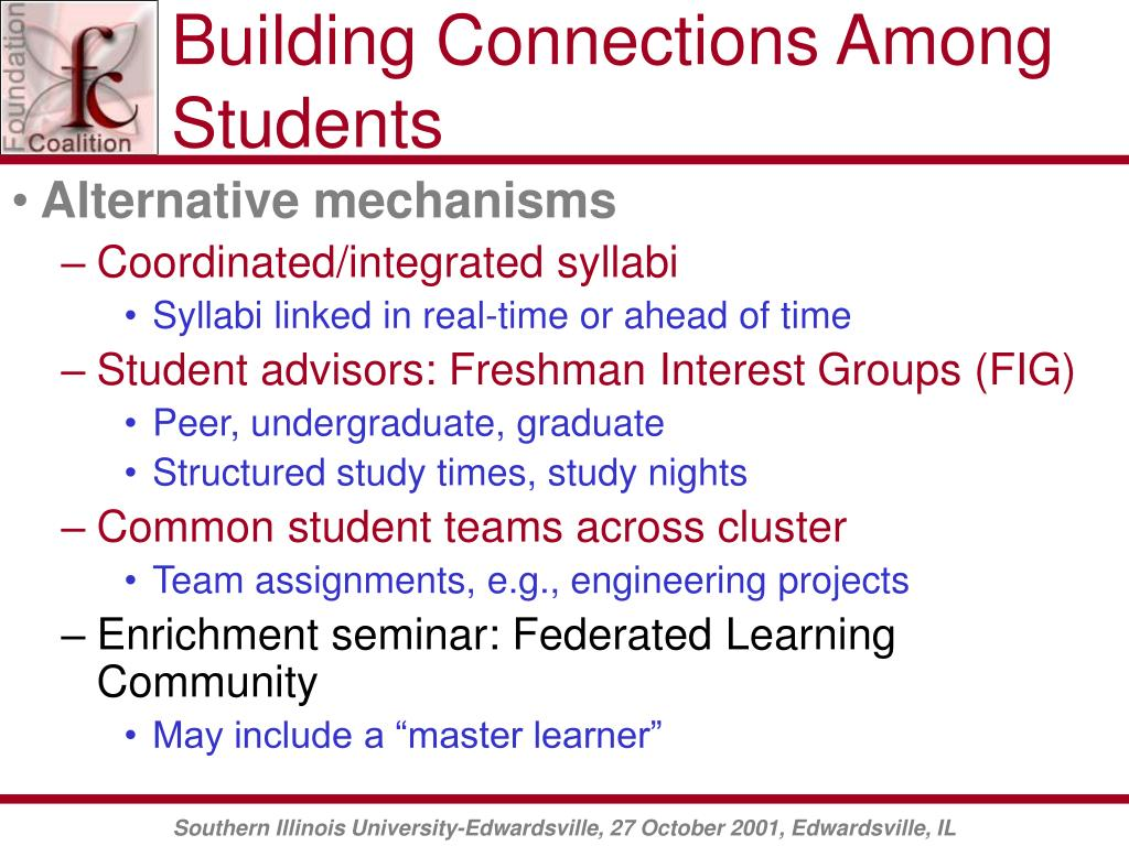 Building Connections Among Students