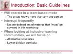 introduction basic guidelines