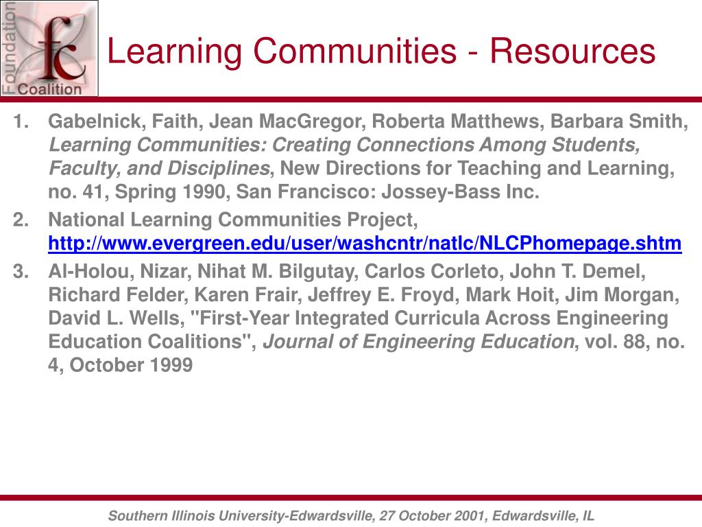 Learning Communities - Resources