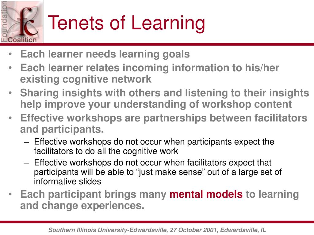 Tenets of Learning