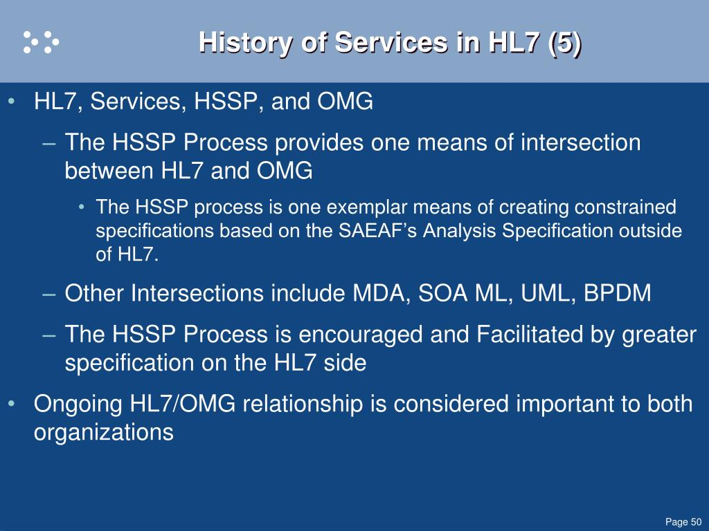 History of Services in HL7 (5)