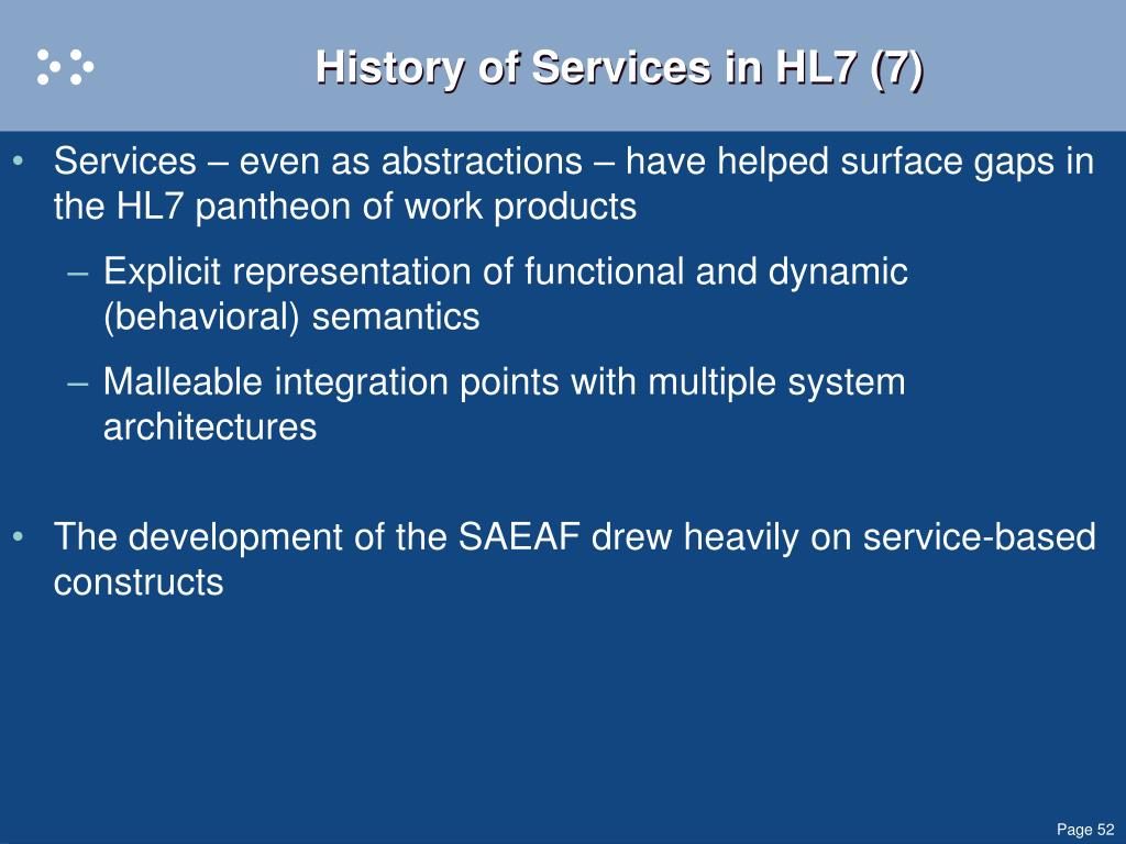 History of Services in HL7 (7)
