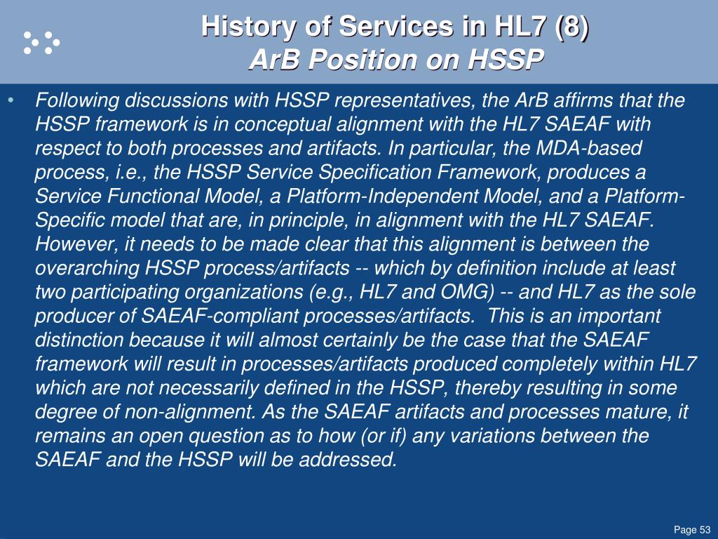History of Services in HL7 (8)