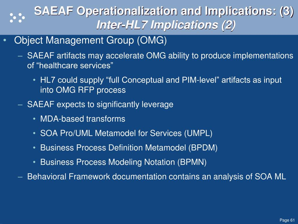 SAEAF Operationalization and Implications: (3)