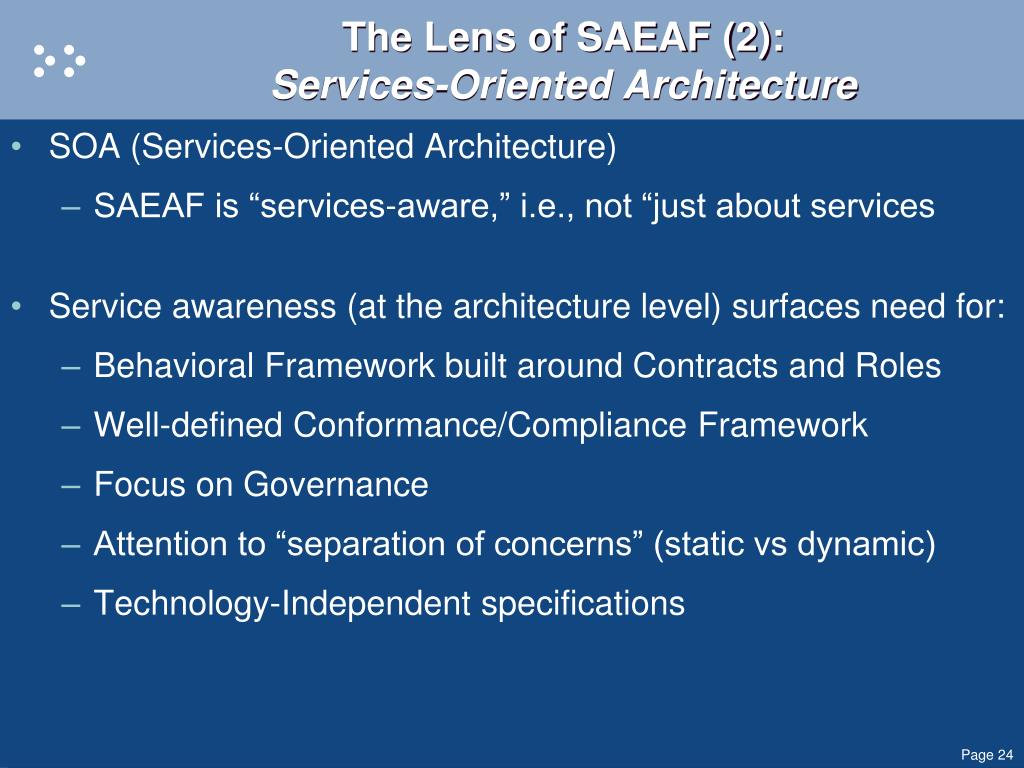 The Lens of SAEAF (2):