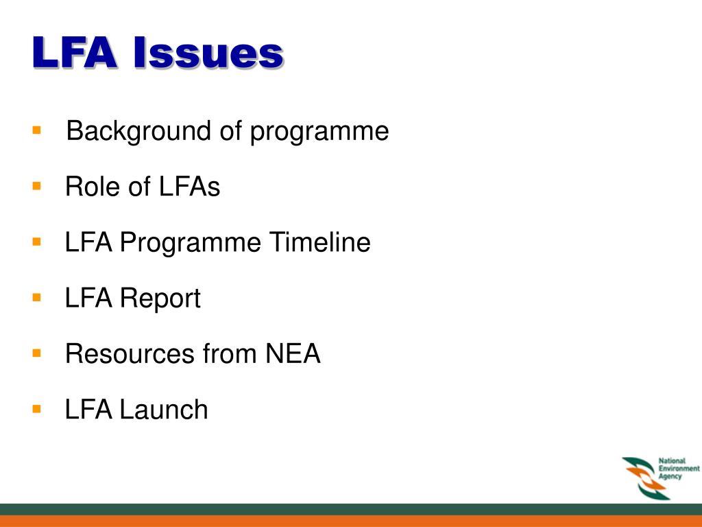 LFA Issues