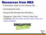 resources from nea