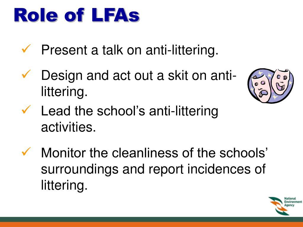 Role of LFAs