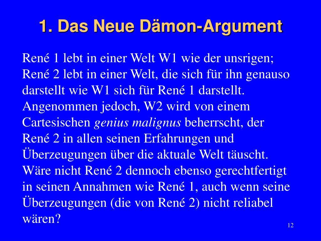 1. Das Neue Dämon-Argument