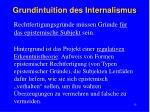 grundintuition des internalismus