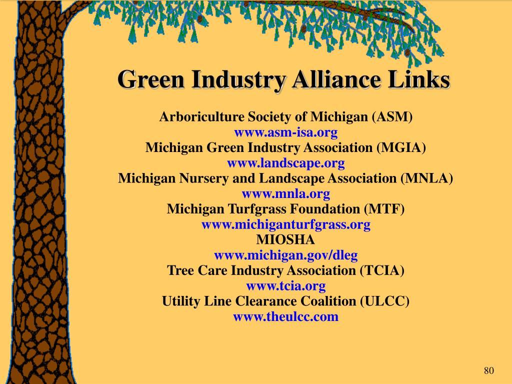 Green Industry Alliance Links