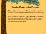 hearing conservation program76