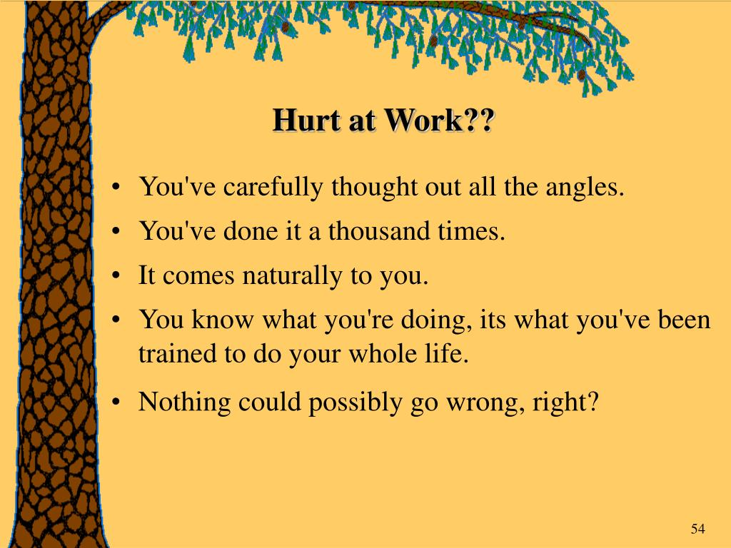 Hurt at Work??