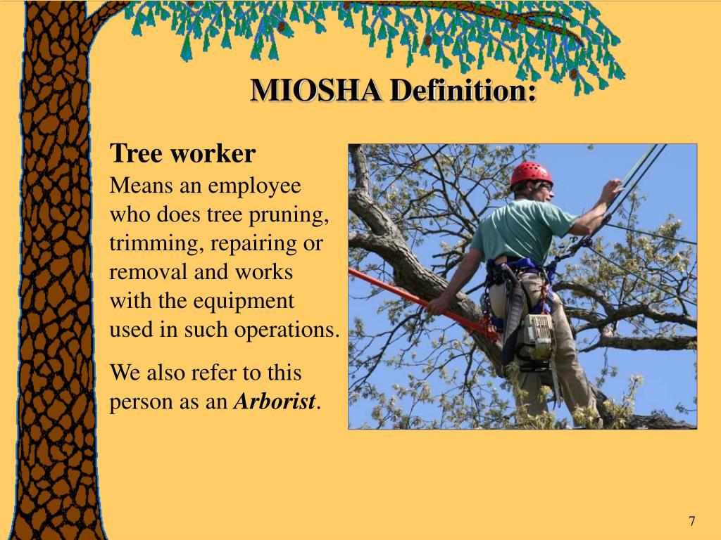 MIOSHA Definition: