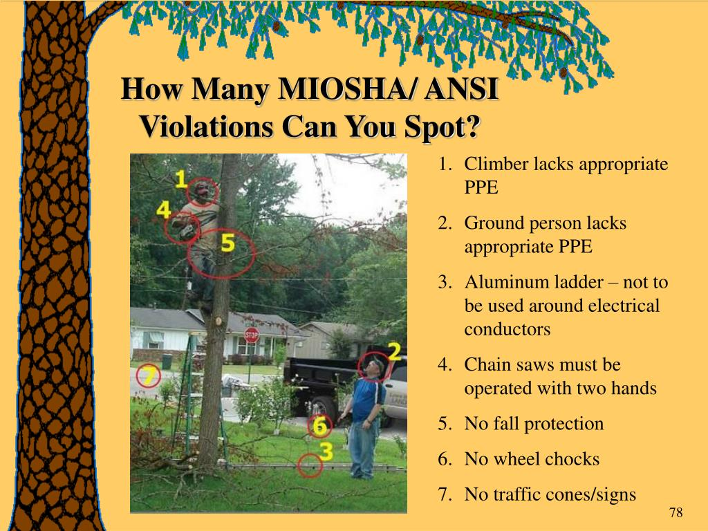 How Many MIOSHA/ ANSI Violations Can You Spot?