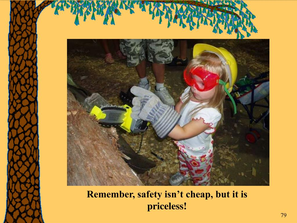 Remember, safety isn't cheap, but it is priceless!