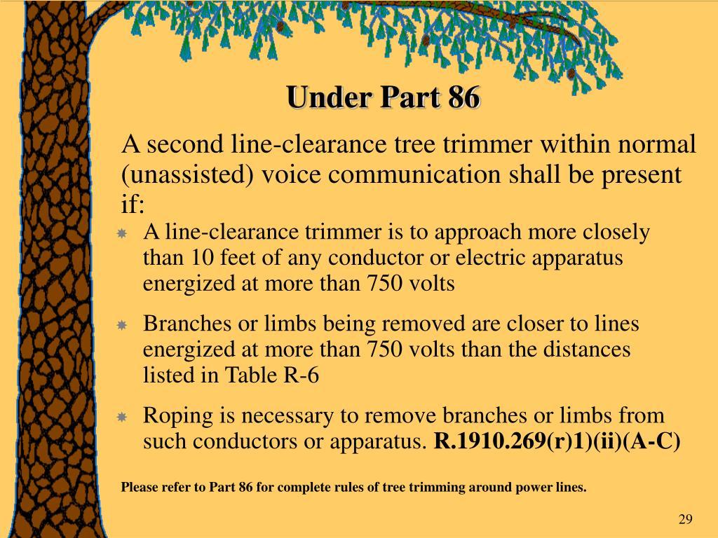 Under Part 86