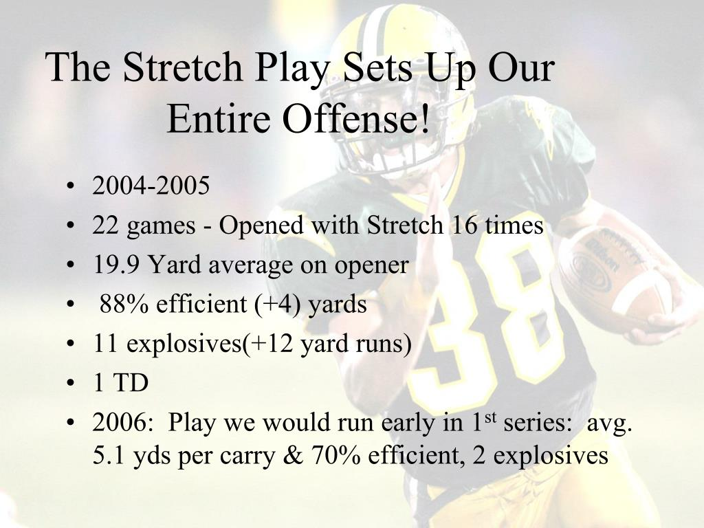The Stretch Play Sets Up Our Entire Offense!
