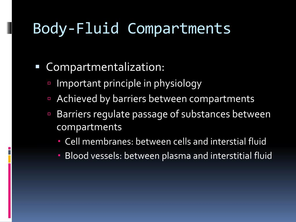Body-Fluid Compartments