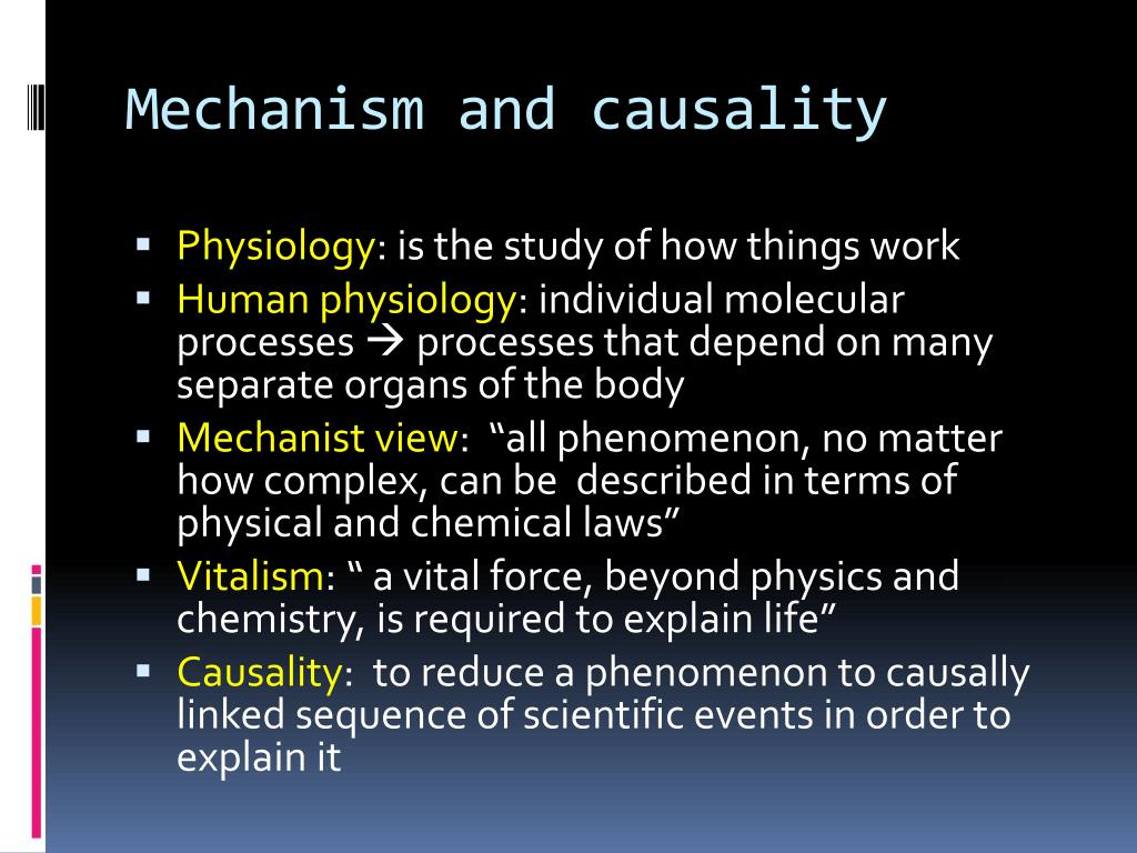 Mechanism and causality
