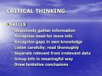 critical thinking23