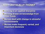 why critically think