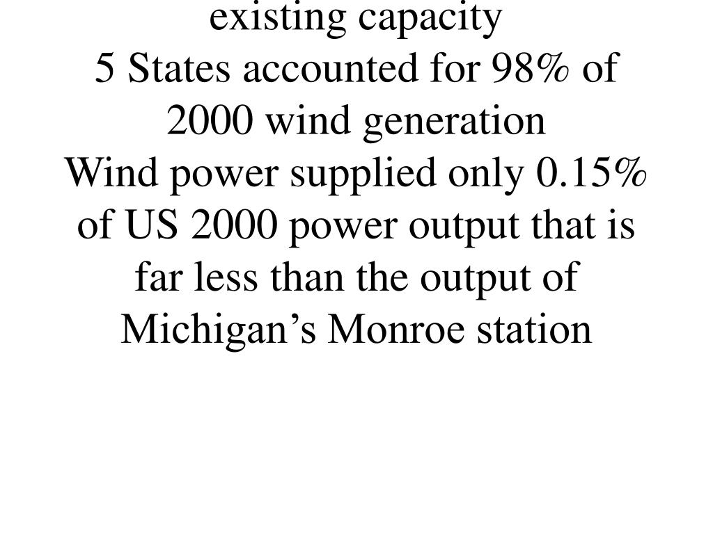 Existing Wind Capacity is Highly Concentrated