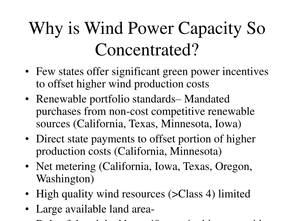 Why is Wind Power Capacity So Concentrated?