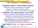 the ironies of automation