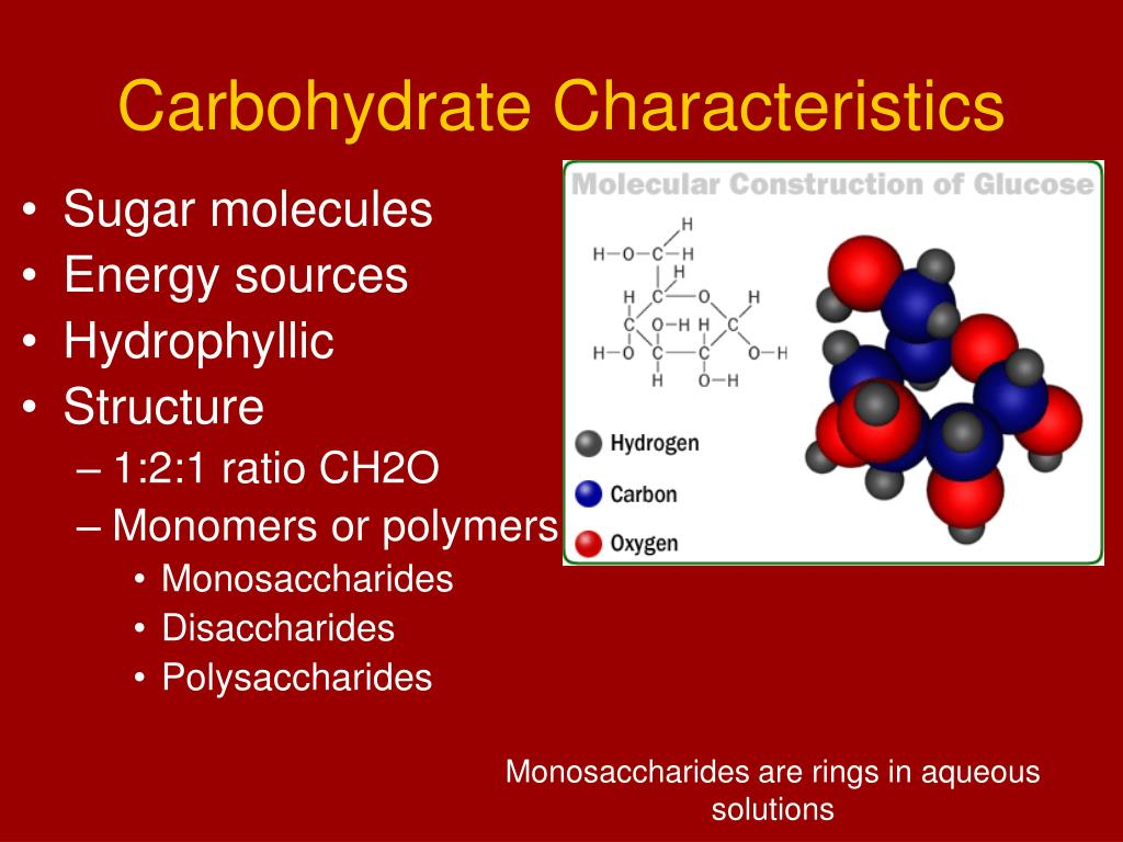 Carbohydrate Characteristics