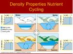 density properties nutrient cycling
