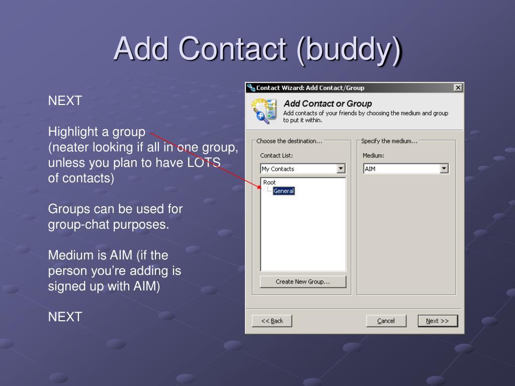 Add Contact (buddy)