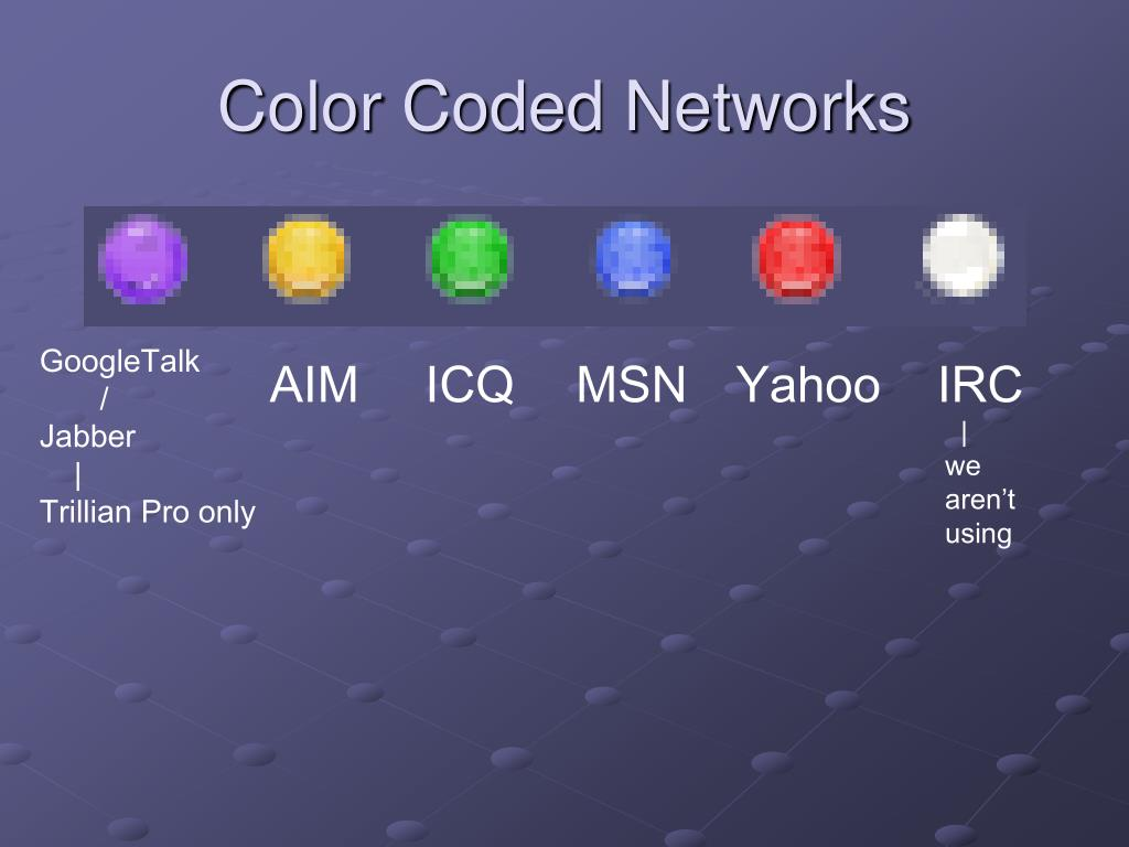 Color Coded Networks