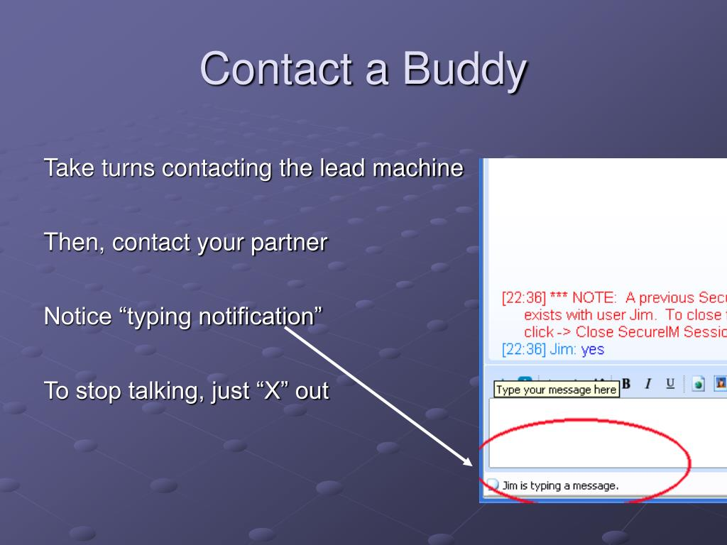 Contact a Buddy