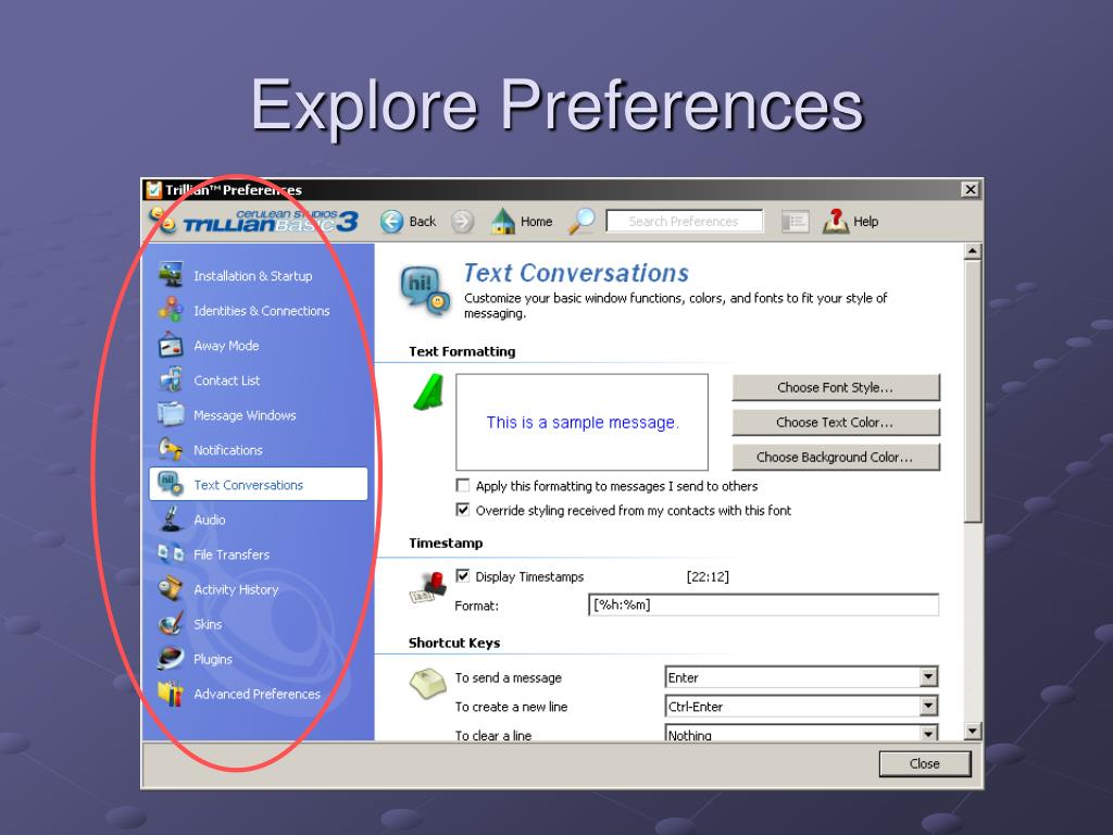 Explore Preferences
