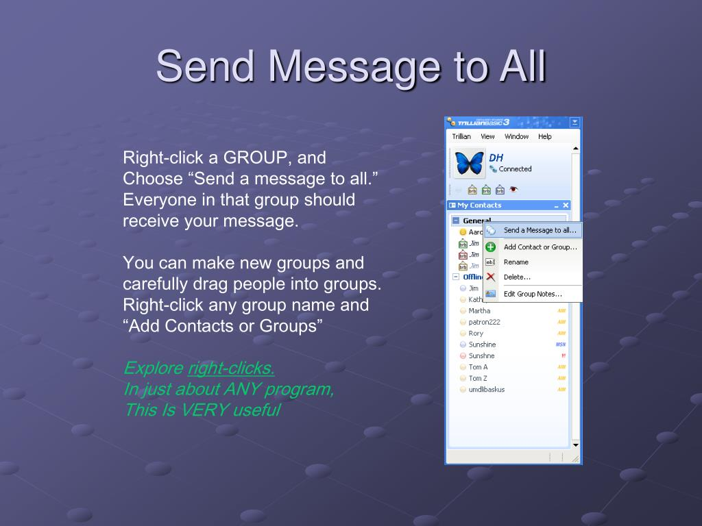 Send Message to All