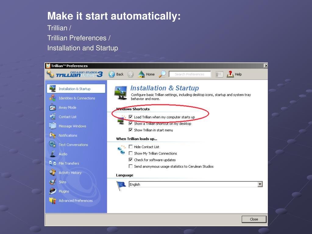 Make it start automatically: