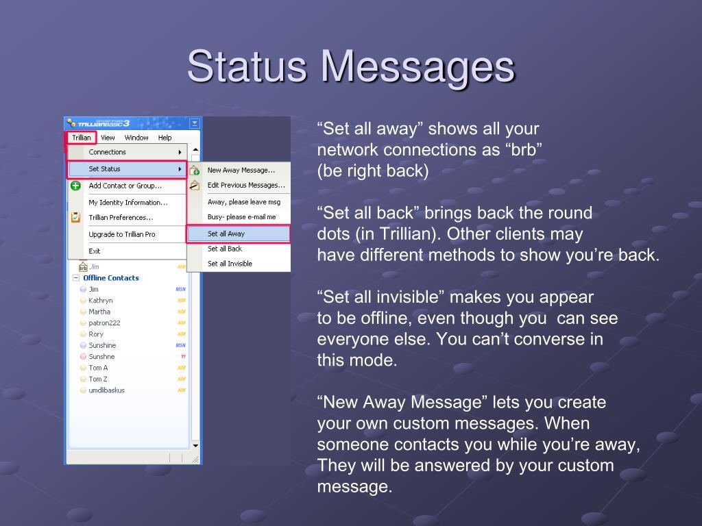 Status Messages